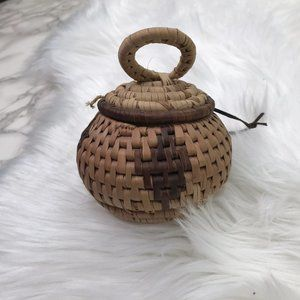 Other - Small Round Lidded Basket